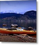 Kings Beach - Okanagan Lake - Kayaking Metal Print
