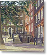 Kings Bench Walk, Inner Temple Oil On Canvas Metal Print
