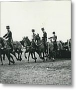 King�s Troop Of The R.h.a. Rehearse�. Even The Gun Goes Metal Print