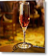 Kir Royale In A Champagne Glass Metal Print