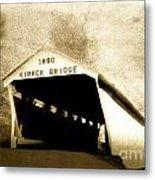Kirker Covered Bridge  35-01-10 Metal Print