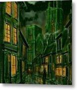 Kirkgate And Bridlington Priory By Moonlight Metal Print