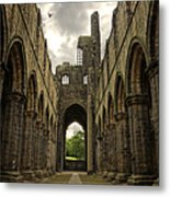 Kirkstall Abbey Metal Print