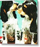 Kiss Me - Cocker Spaniel Art By Sharon Cummings Metal Print