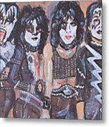 Kiss Rock Band Metal Print