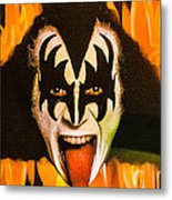 Kiss The Demon Metal Print