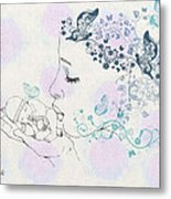 Kiss To A New Born Metal Print