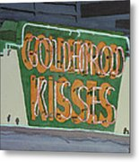 Kisses Neon Sign Metal Print