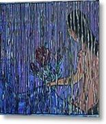 Kissing Rain Metal Print
