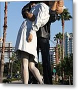 Kissing Sailor - The Kiss - Sarasota Metal Print