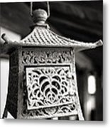 Kita-in Temple Iron Lantern In Kawagoe Metal Print