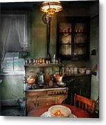 Kitchen - 1908 Kitchen Metal Print by Mike Savad