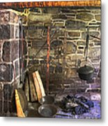 Kitchen - Colonial Pots And Pans Metal Print