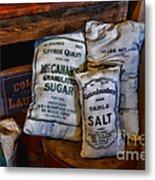 Kitchen - Food - Sugar And Salt Metal Print