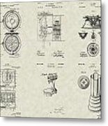 Kitchen Household Patent Collection Metal Print