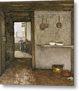 Kitchen Interior, C.1899 Metal Print