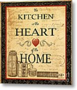 Kitchen Is The Heart Metal Print