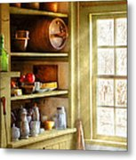 Kitchen - Kitchen Necessities Metal Print by Mike Savad
