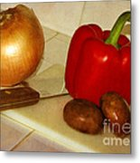 Kitchen Prep Metal Print