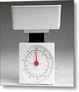 Kitchen Scales Metal Print