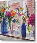 Kitchen Window Sill Metal Print by Karol Wyckoff