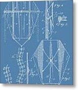 Kite Patent On Blue Metal Print