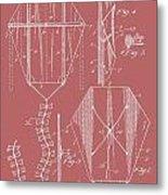 Kite Patent On Red Metal Print