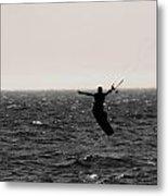 Kite Surfing Pose Metal Print