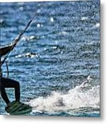 Kite Surfing Splash Metal Print by Dan Sproul