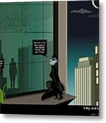 Kitty And Spy Panel 4 Metal Print