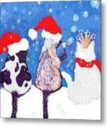 Kitty Christmas Metal Print