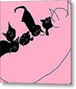 Kitty Litter  Metal Print by Anita Dale Livaditis