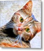 Kitty Strange Metal Print