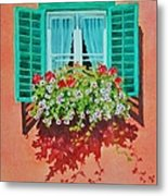 Kitzbuhel Window Metal Print