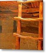 Kiva Ladder Metal Print