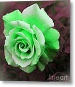 Kiwi Lime Rose Metal Print