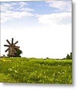 Kizhi Island Windmill Russia Metal Print
