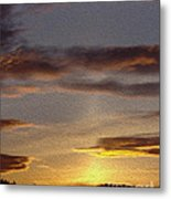 Klamath Golden Sunset Metal Print