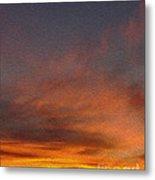 Klamath Sunset Of Fire Metal Print
