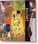 Klimt Collage Metal Print