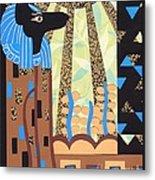 Klimt's Paper Anubis Metal Print