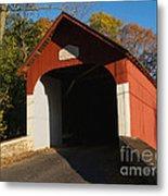 Knecht's Covered Bridge In October In Bucks County Pa Metal Print