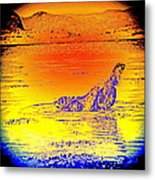 Have You Ever Felt Like A Simple Dog Kneeling Into The Sacred Water  Metal Print