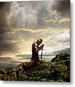 Kneeling Knight Metal Print