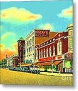 Knepp's And Kresge's Stores On Washington Av. In Bay City Mi 1940 Metal Print