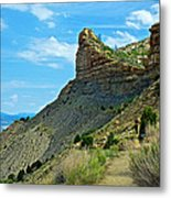 Knife Edge Road Overlooking Montezuma Valley In Mesa Verde National Park-colorado  Metal Print