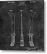 Knife Patent 1942 005 Metal Print