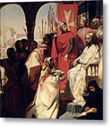 Knights Of The Order Of St John Of Jerusalem Restoring Religion In Armenia Metal Print