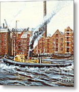 Knocker White Sailing Down River Past Rotherhithe Metal Print