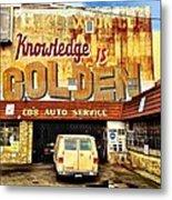 Knowledge Is Golden Metal Print